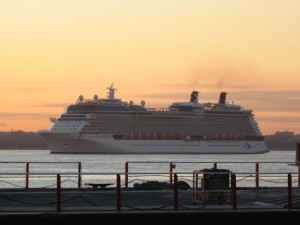 Celebrity Silhouette arrives Cape Liberty Cruise Terminal in Bayonne, NJ.