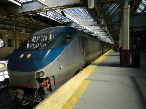 Amtrak's Silver Star, train #91, arrives at Newark Penn Station on her journey south to Miami, Florida.
