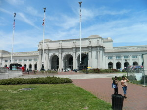 Washington DC's Union Station, on a beautiful Saturday afternoon in May 2012.  This photo was taken on National Train Day.