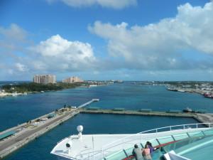 Land ho! Arriving sunny Nassau, Bahamas on Christmas Day.