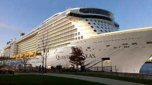 At 167,000 tons, Royal Caribbean's Quantum of The Seas is the world's first ever smart ship. Her sister ship, Anthem of The Seas, is due to launch this Spring from Southampton, England.