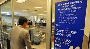 At any US airport, enrolled travelers easily pass through security without removing their laptops, shoes, and belts.