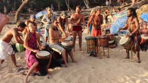 Aside from being one of the world's most beloved nude beaches, Little Beach hosts a drum circle that plays from sunrise to sunset.
