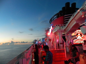 Aboard Disney Dream and Disney Fantasy, families are treated to endless runs on the AquaDuckt and energetic parties on the open decks.