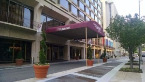 The Crystal City Marriott is located across the Jefferson Davis Highway from its counterpart, Crystal Gateway Marriott.