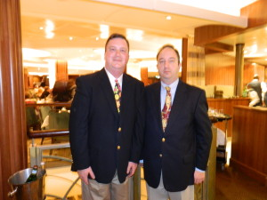 Meet the agents: David and Stephen Kriso. Photo taken aboard the Oasis of The Seas.
