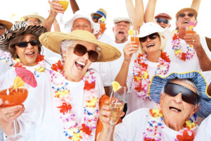 The list of group themes and occasions is endless. This is an example of a retirement cruise.