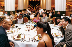 In the main dining room, a group occasion jumps into high gear, with memories shared on a nightly basis.